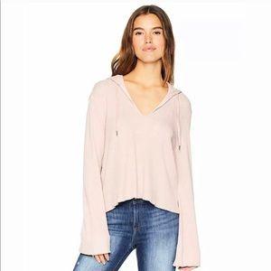 NWT Splendid Thermal Hoodie Top Pink Large
